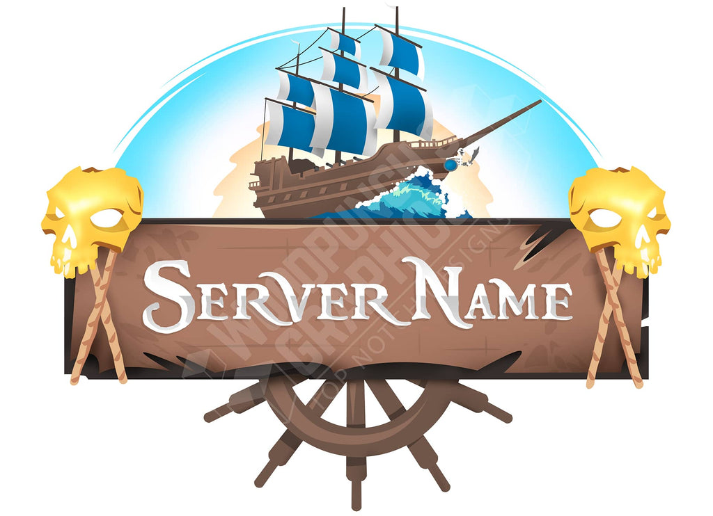 Pirate Ship - Minecraft Server Logo
