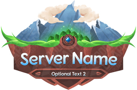 Mountain Minecraft Server Logo