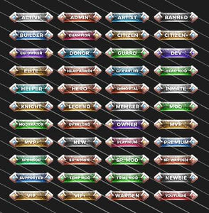 Crystallized - Forum Rank Tags Pack