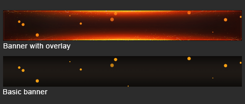 Fire Banner Overlay - Photoshop File