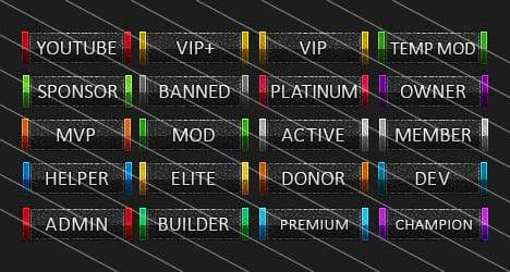 Leather - Forum Rank Tags Pack
