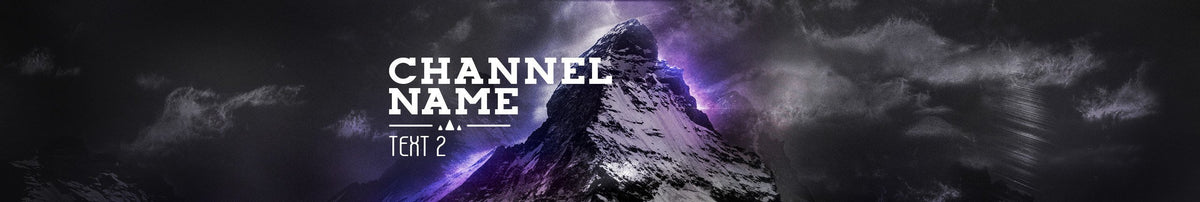 youtube channel banner template mountain top woodpunch
