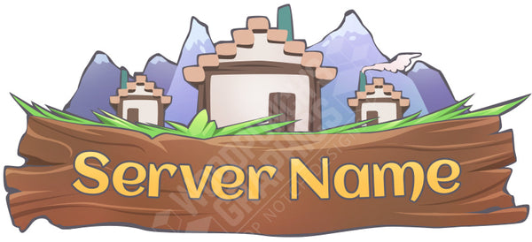 Mountain Village - Minecraft Server Logo