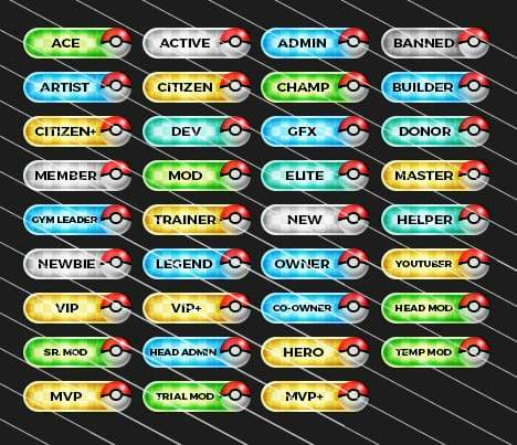 Pixelmon - Forum Rank Tags Pack