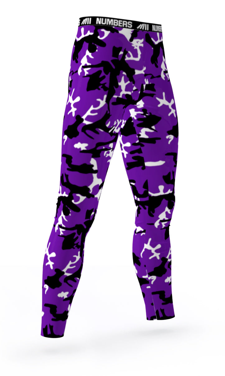 cfe48251f5 COLORADO ROCKIES COLORS ATHLETIC COMPRESSION TIGHTS FOR SPORTS TEAMS  UNIFORMS; PURPLE, WHITE, BLACK
