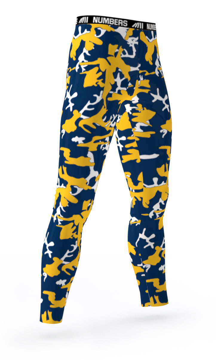 bd97505aaf INDIANA PACERS ATHLETIC SPORTS COMPRESSION TIGHTS COLORS BLUE YELLOW WHITE