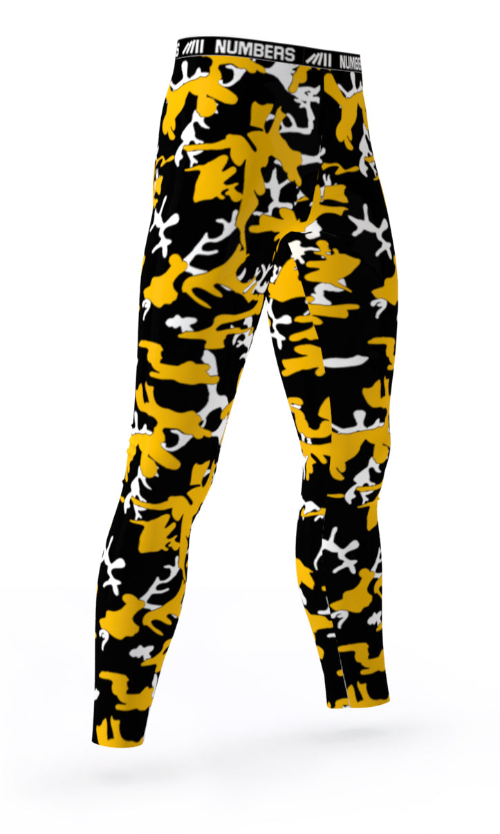 Compression Tights Camo Chemical Sting Numbers Athletics