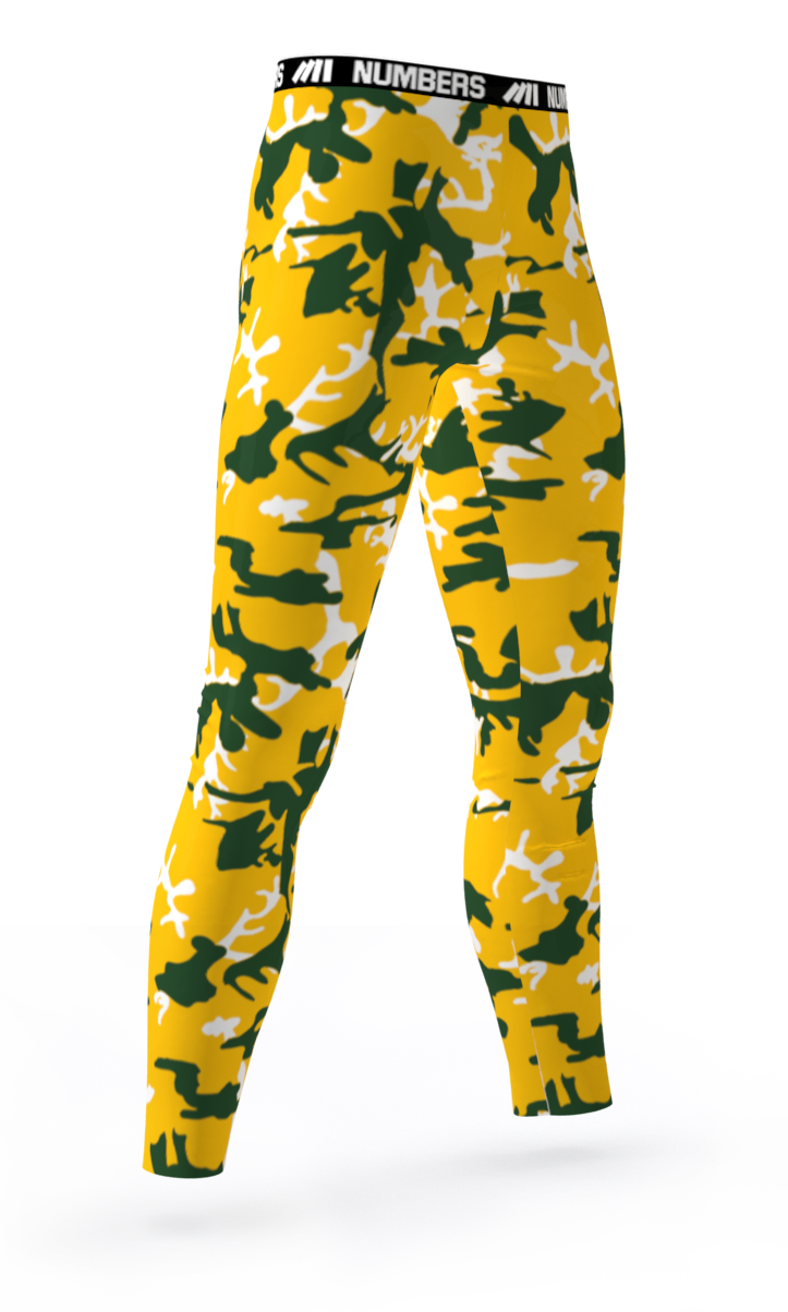 b7d343cf165 GREEN BAY PACKERS CROSSFIT GYM ATHLETIC SPORTS COMPRESSION TIGHTS COLORS  YELLOW GREEN WHITE