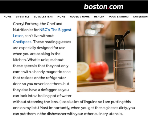 ChefSpecs featured in boston.com