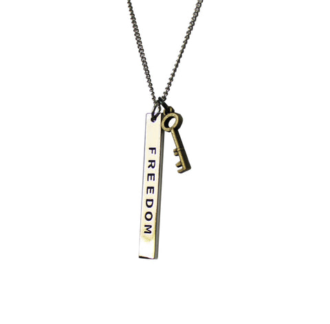 Freedom Key Necklace