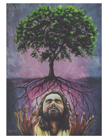 "Color Print - ""Be Rooted in Jesus"" (Colossians 2:7)"