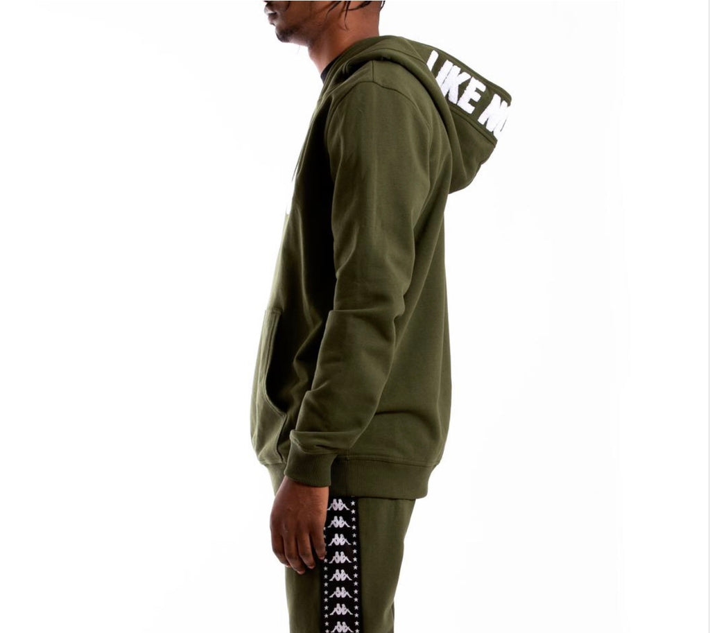 Kappa Authentic Bzalent Hoodie In Green Africa