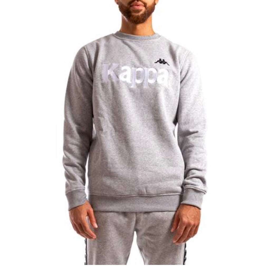 Kappa Authentic Bzali Sweatshirt In Grey Silver