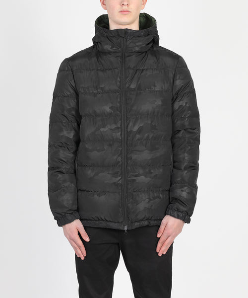 Complex Down Jacket - Black camo/ Army