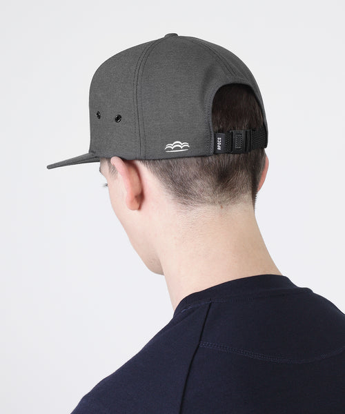 6 Panel Twill Cap - Grey and Black