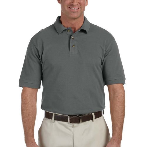 Harriton Men's 6 oz. Ringspun Cotton Piqué Polo