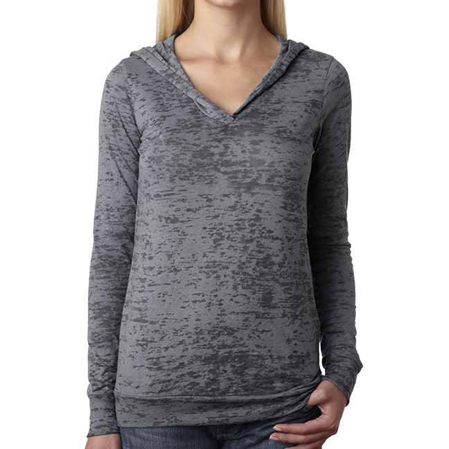 Next Level Ladies' Burnout Hoodie