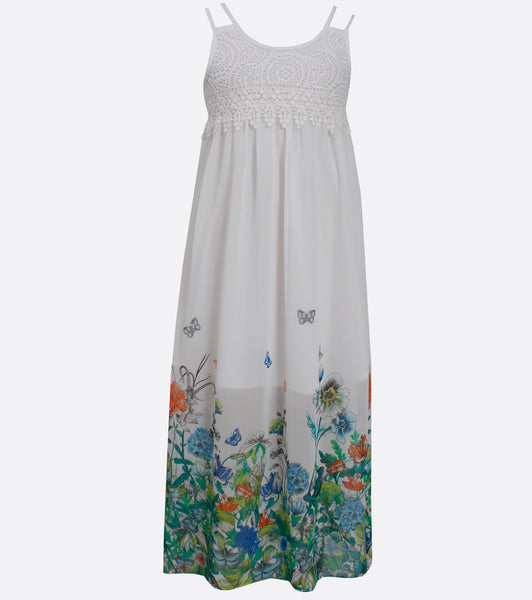 Bonnie Jean spring border maxi dress