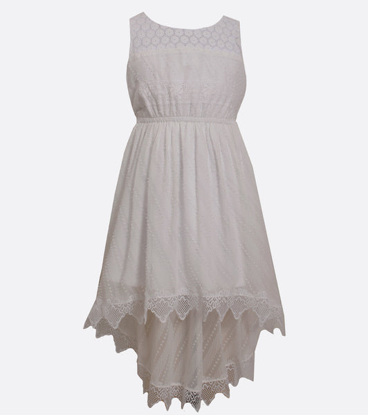 Bonnie Jean clip dot and lace summer dress