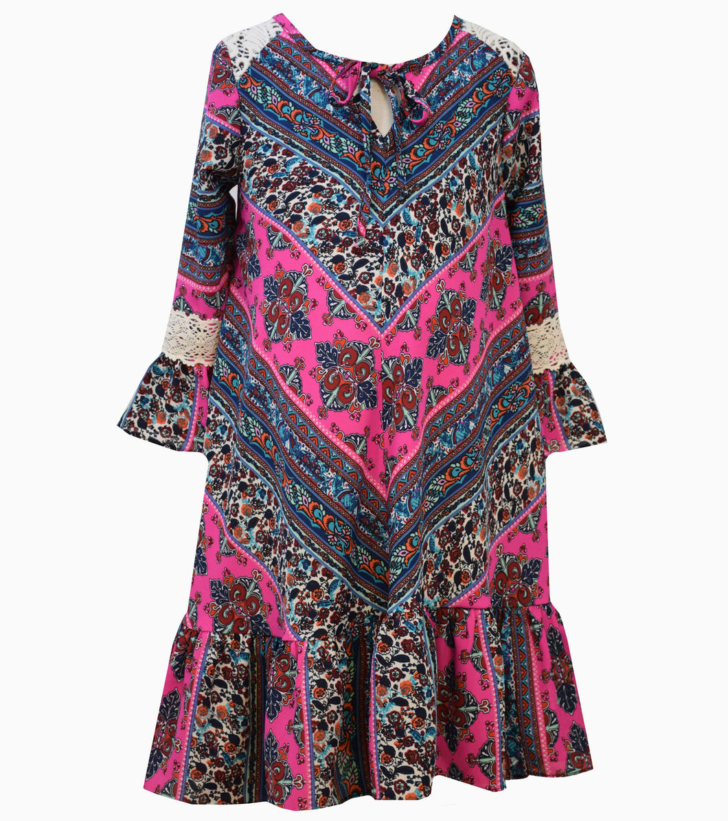Girls Boho Style Fall Dress