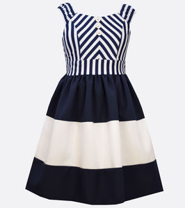 Mitered Stripe Nautical Dress