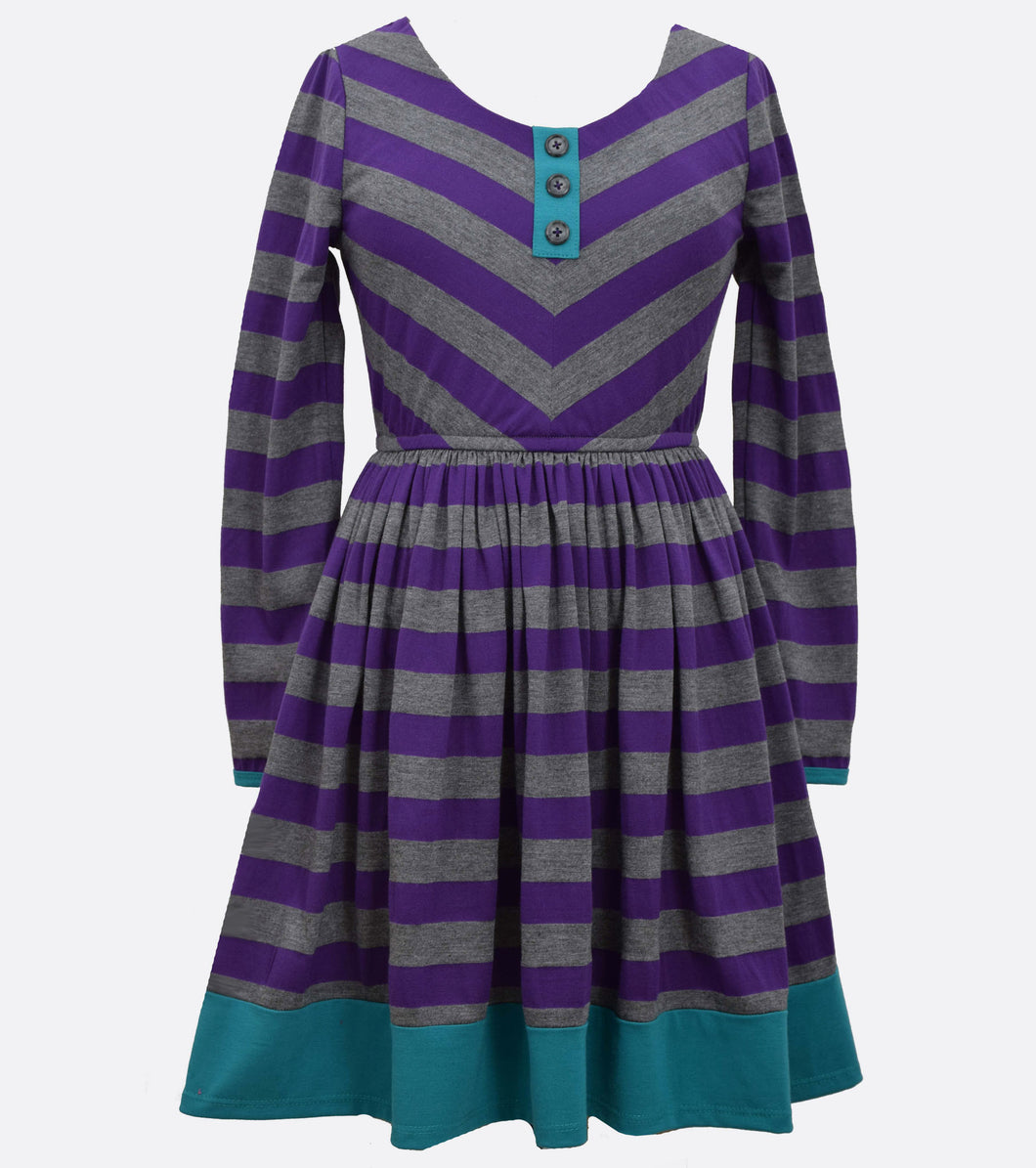 Bonnie Jean knit stripe dress plus size