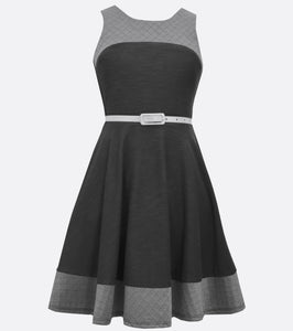 Bonnie Jean shades of gray fall dress