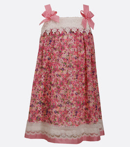 Bonnie Jean Floral Chiffon and lace dress