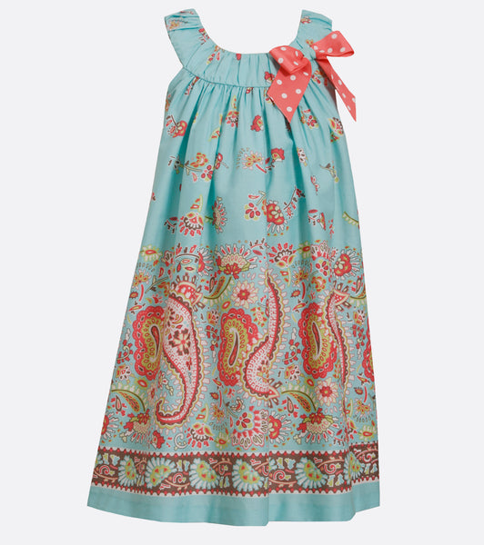 Bonnie Jean paisley shift dress