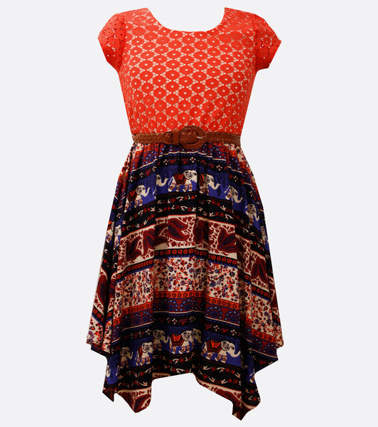 Bonnie Jean bohemian inspired dress