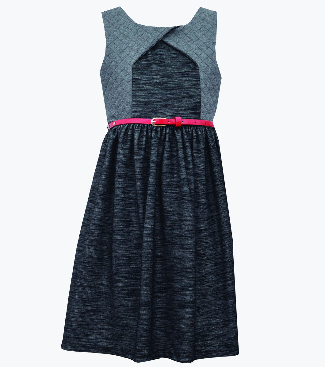 Bonnie Jean quilted chambray dress