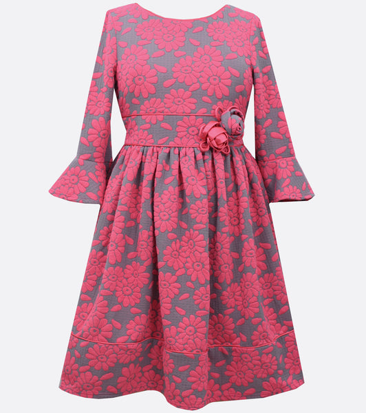 Bonnie Jean plus size floral knit dress
