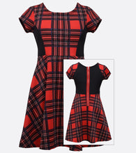 Bonnie Jean plaid skater dress