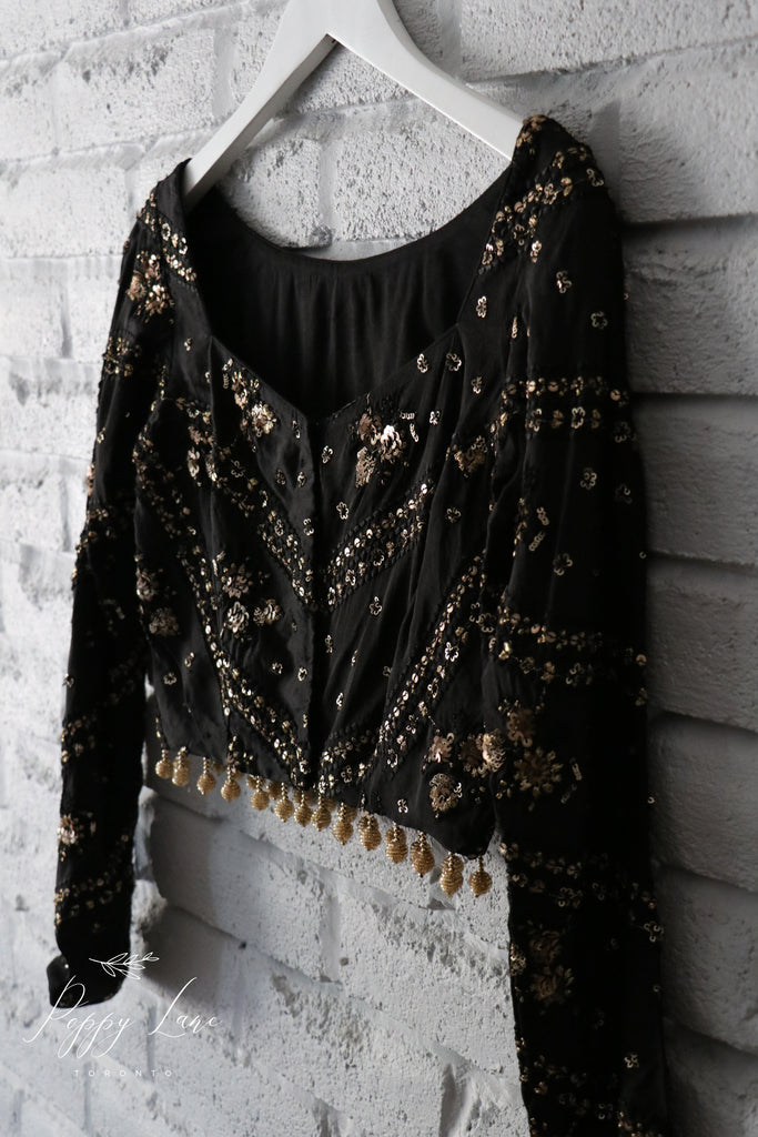 Trance Blouse 2.0  - Black - Long Sleeve