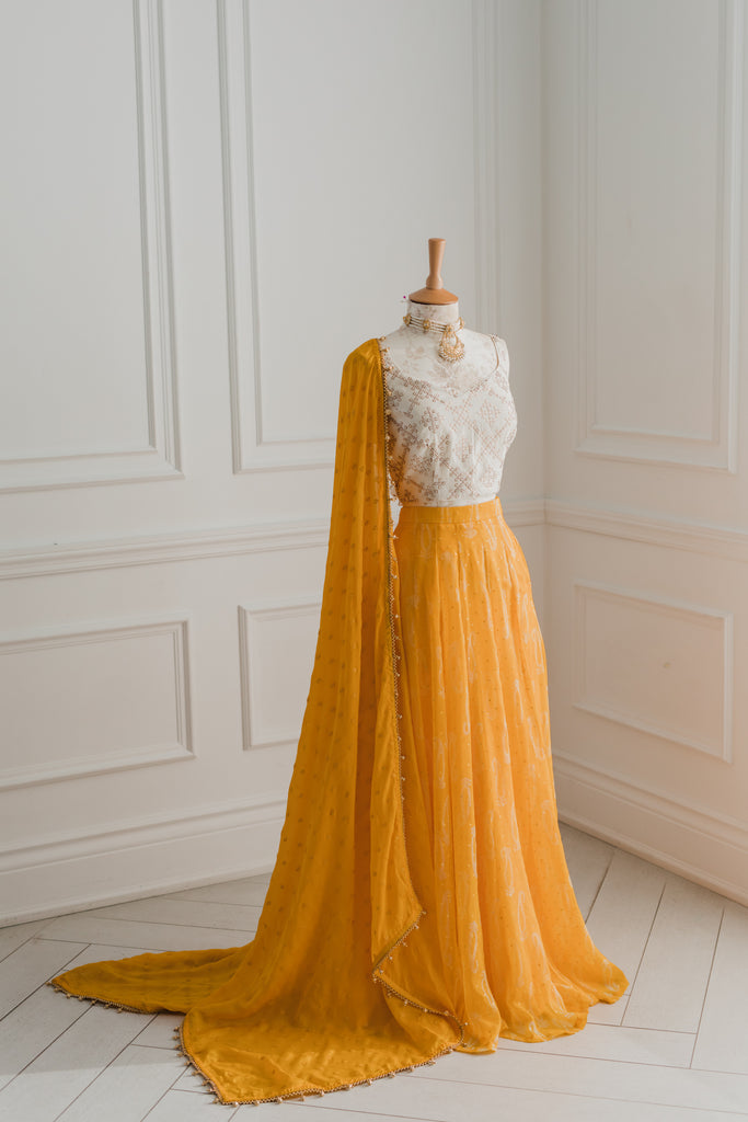 Zuri - Yellow - Skirt + Dupatta