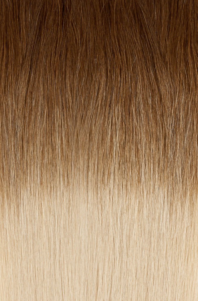 "Ombre - Caramel Brown (#4) to Dirty Blonde (#18B) 22"" Tape"