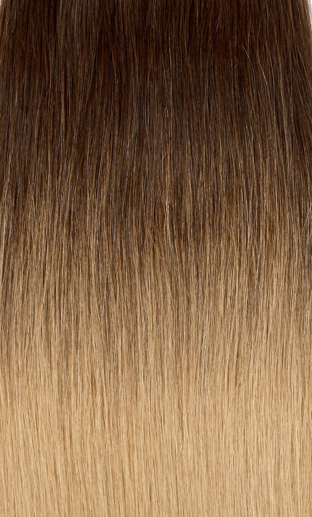 "Ombre - Dark Brown (#2) to Ash Brown (#9) 16"" Keratin Tip"