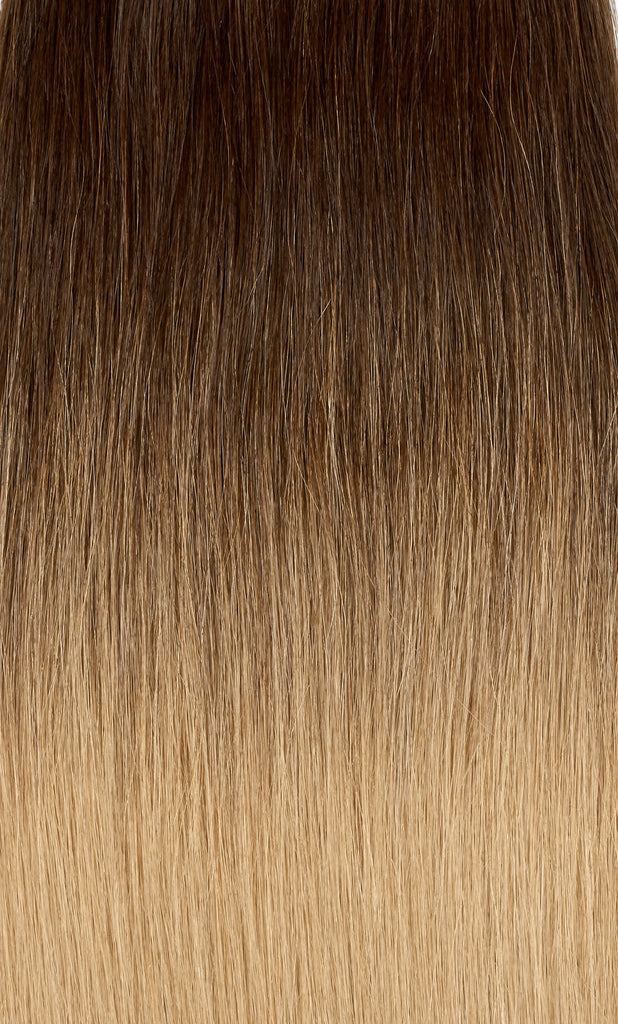 "Ombre - Dark Brown (#2) to Ash Brown (#9) 20"" Fusion"