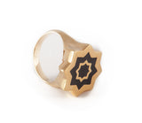 Gold & Black Abraham Ring