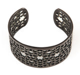 Black & Titanium Mesh Bangle