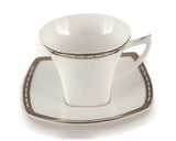 Platinum Jacob's Ladder Coffee & Tea Cup With Saucer set of 6 pcs