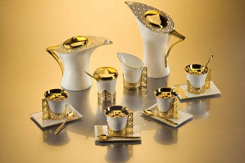 Gold Arabesque Coffee & Tea Pot Set