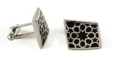 Stainless Steel Black Rhombus Cufflinks