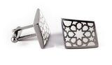 Stainless Steel & White Rhombus Cufflinks