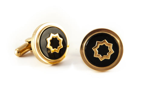 Gold & Black Truffles Cufflinks