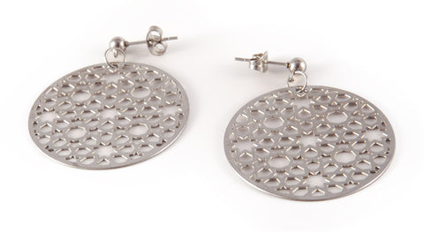 Stainless Steel Circle Earrings