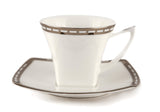 Platinum Jacob's Ladder Espresso Cup & Saucer set of 6 pcs