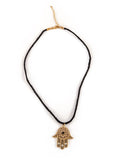 Gold Hamsa String Pendant Necklace
