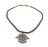 Stainless Steel Hamsa String Pendant Necklace