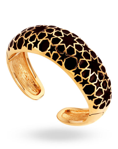 Gold & White Pular Bangle